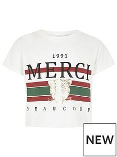 river-island-girls-white-lsquomercirsquo-print-cropped-t-shirt