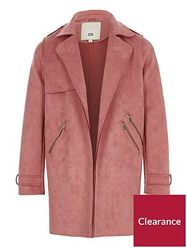 river-island-girls-pink-faux-suede-trench-coat