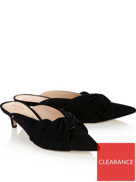 43b673d5e ... SAM EDELMAN Laney Suede Kitten Heel Mules - Black. View larger
