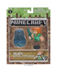 minecraft-minecraft-3-inch-action-figures-alex-with-elytra-wings