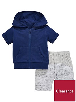 mini-v-by-very-baby-boys-short-sleeve-navy-zip-through-hoodienbspwith-contrast-shorts-bluegrey