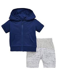 mini-v-by-very-baby-boys-short-sleeve-navy-zip-through-hoody-with-contrast-shorts