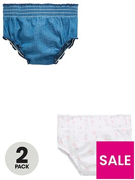 mini-v-by-very-baby-girls-2-pack-frill-flamingo-amp-chambray-knickers