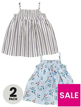 mini-v-by-very-baby-girls-2-pack-woven-stripe-amp-floral-dresses
