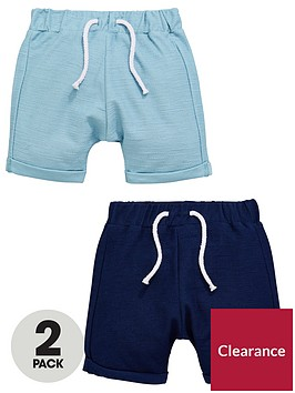 mini-v-by-very-2-pack-textured-jersey-shorts-turquoiseblue