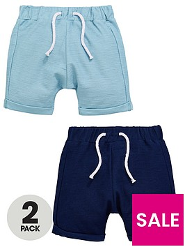 mini-v-by-very-baby-boys-2-pack-textured-jersey-shorts