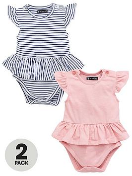 mini-v-by-very-baby-girls-frill-stripe-amp-pink-marl-bodysuits