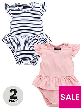 mini-v-by-very-baby-girls-frill-stripe-amp-pink-marl-bodysuits