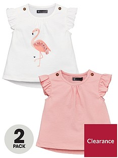 mini-v-by-very-baby-girls-2-pack-applique-flamingo-tees-multi