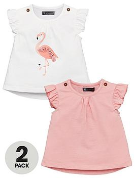mini-v-by-very-baby-girls-2-pack-applique-flamingo-tees