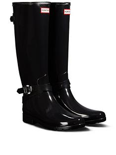 hunter-refined-back-adjustable-tall-gloss-welly--nbspblack