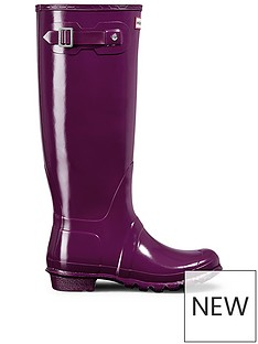 hunter-original-tall-gloss-wellynbsp--purple