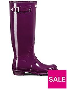 hunter-original-tall-gloss-wellynbsp--purple