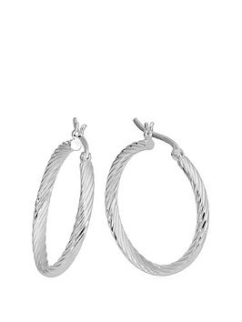 the-love-silver-collection-sterling-silver-twisted-hoop-earrings
