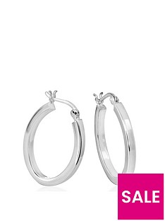the-love-silver-collection-sterling-silver-polished-oval-hoop-earrings
