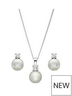 love-pearl-sterling-silver-glass-pearl-and-cubic-zirconia-pendant-and-earring-set