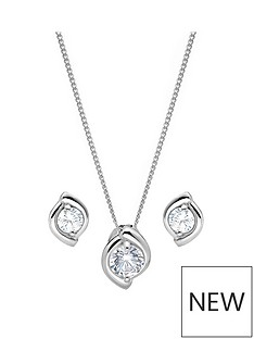 the-love-silver-collection-sterling-silver-rhodium-plated-cubic-zirconia-swirl-stud-earrings-and-pendant-set