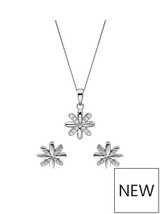 the-love-silver-collection-sterling-silver-rhodium-plated-cubic-zirconia-flower-stud-earrings-and-pendant-set