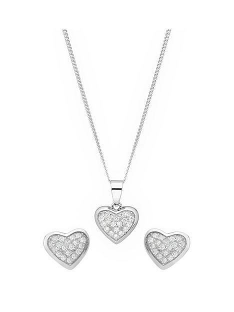 the-love-silver-collection-sterling-silver-cubic-zirconia-cluster-heart-stud-earrings-and-pendant-set
