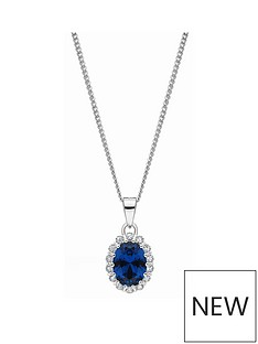 love-gem-sterling-silver-oval-blue-sapphire-colour-stone-and-white-cubic-zirconia-pendant
