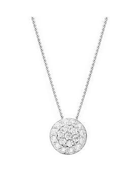 the-love-silver-collection-sterling-silver-cubic-zirconia-round-pendant