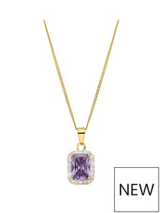 love-gem-sterling-silver-gold-plated-emerald-cut-amethyst-colour-and-white-cubic-zirconia-pendant