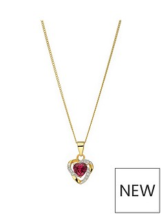 love-gem-sterling-silver-gold-plated-heart-shape-red-colour-stone-amp-white-cubic-zirconia-heart-pendant