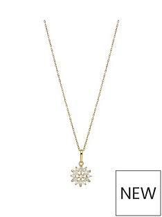 love-gold-9ct-yellow-gold-cubic-zirconianbspflower-pendant