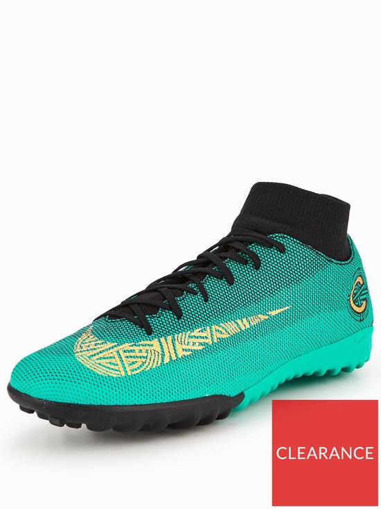d10c5d3cb817 Nike Mens Cr7 Mercurial Superfly 6 Academy Astro Turf Football Boot - Green