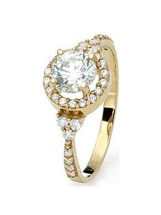 love-gold-9ct-yellow-gold-cubic-zirconia-halo-ring