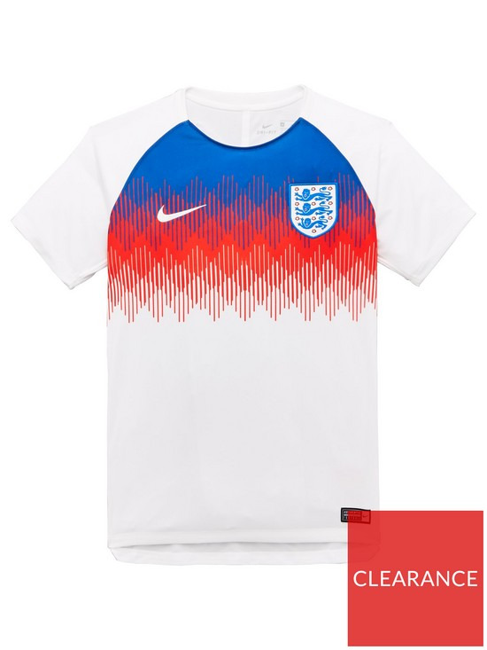81476d3c Nike Junior England Pre Match Short Sleeve Training Top | very.co.uk