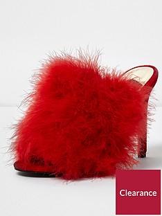 river-island-peep-toe-heeled-sandal--red