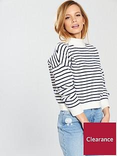 miss-selfridge-petitenbspfunnel-neck-knitted-jumper
