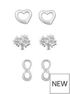 love-silver-sterling-silver-open-heart-tree-of-life-and-infinity-earring-set