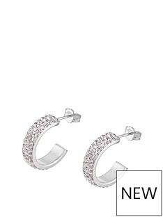 love-silver-sterling-silver-crystal-pave-half-hoop-earrings