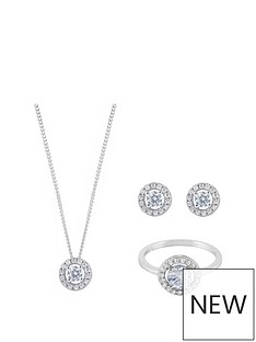 love-silver-sterling-silver-halo-cubic-zirconia-pendant-earring-and-ring-set