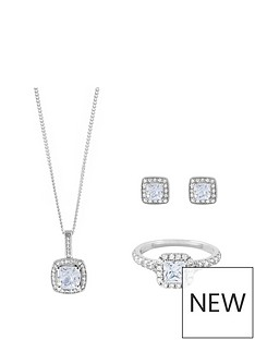 love-silver-sterling-silver-princess-cut-cubic-zirconia-pendant-earring-and-ring-set