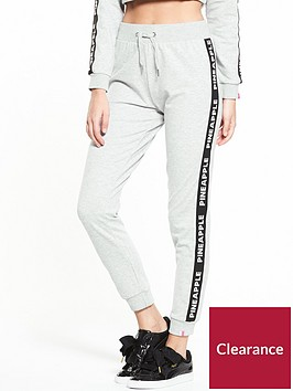 miss-selfridge-pineapple-mono-elastic-jogger-grey-marl