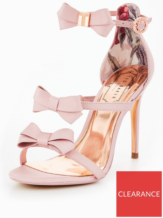 6d1b621c2ece0 Ted Baker Nuscala Bow Heeled Sandal - Light Pink