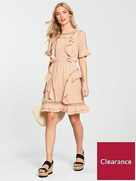 v-by-very-circular-ladder-trim-dress-peach
