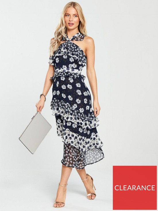 401fddb303c87 V by Very Mixed Print Midi Dress | very.co.uk