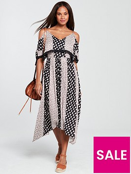 v-by-very-cold-shoulder-midi-dress-printed