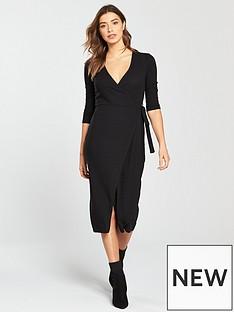 miss-selfridge-wrap-midi-dress-blacknbsp