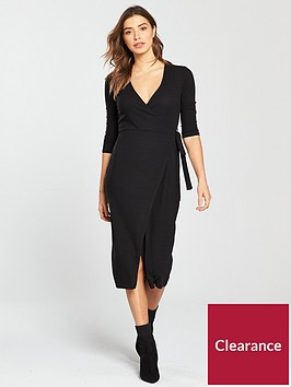 miss-selfridge-wrap-midi-dress-blacknbsp