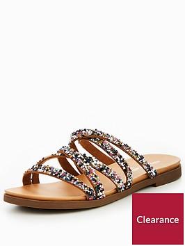 head-over-heels-leony-multi-strap-mule-flat-sandal