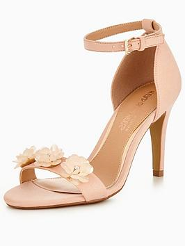 Head Over Heels Muse 3D Floral Two Part Sandal - Blush
