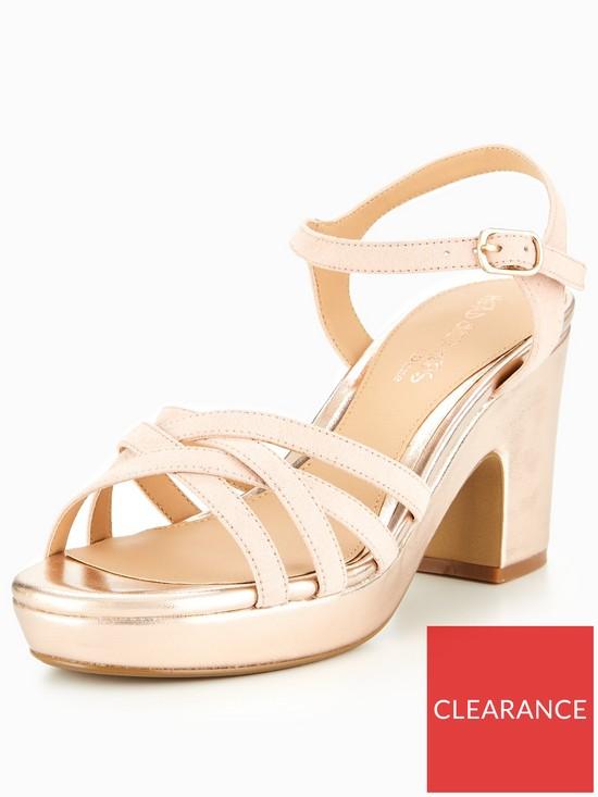 6ee85edacaa Head over Heels Jaclyn Through Platform Sandal - Rose Gold