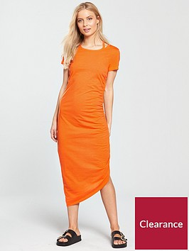 noisy-may-abia-ola-short-sleeve-maxi-dress-orange