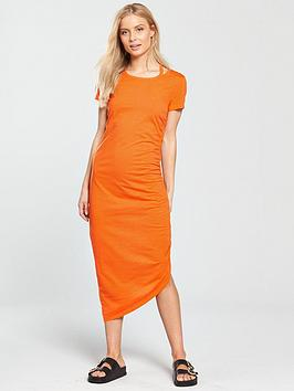 Noisy May Abia Ola Short Sleeve Maxi Dress - Orange
