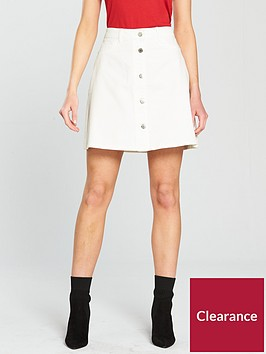 noisy-may-sunny-short-skater-skirt-white